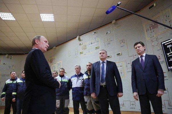 Путин поручил к лету полностью заместить в Крыму электроэнергию, ранее получаемую из Украины (фото) - фото 1