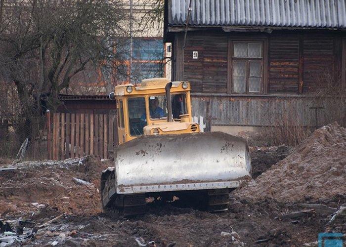 Фоторепортаж: в Гродно на улицах Татарская и Комбайнерская сносят частные постройки (фото) - фото 6