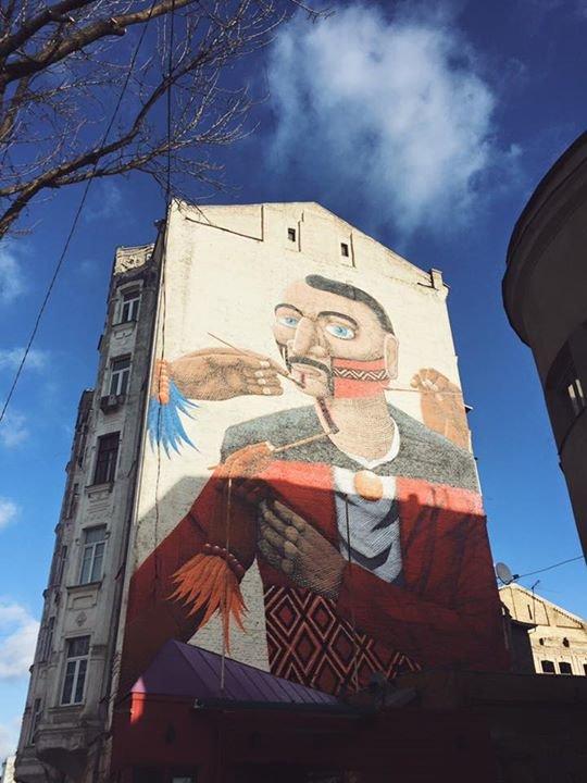 Бразильский художник завершил скандальный мурал на Подоле (ФОТО) (фото) - фото 1