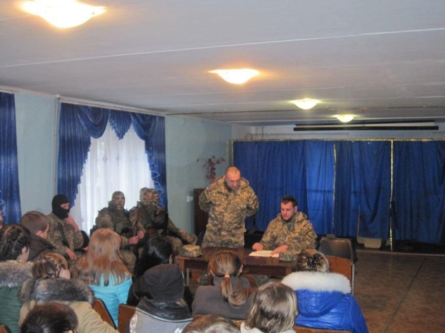 Военные Добропольского комиссариата активно участвуют в воспитании молодежи (ФОТО), фото-1
