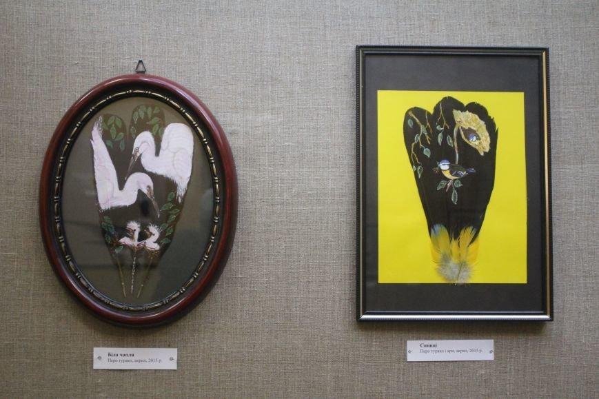 В музее истории Днепродзержинска открылась уникальная выставка живописи на перьях и черепах, фото-3