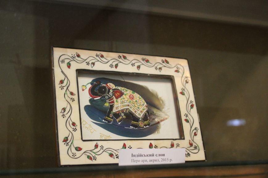 В музее истории Днепродзержинска открылась уникальная выставка живописи на перьях и черепах, фото-5