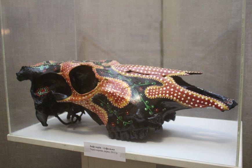 В музее истории Днепродзержинска открылась уникальная выставка живописи на перьях и черепах, фото-4