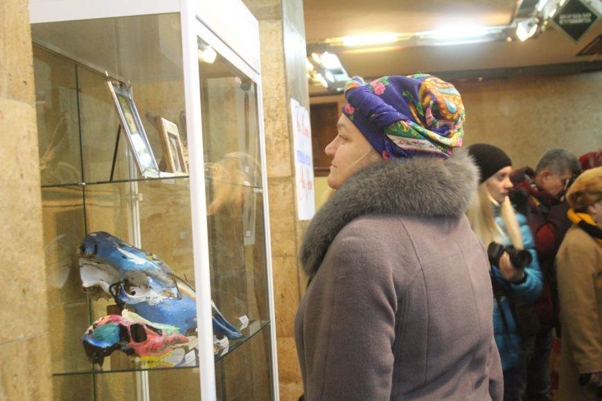 В музее истории Днепродзержинска открылась уникальная выставка живописи на перьях и черепах, фото-6