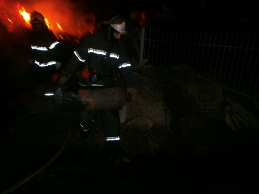 Пожар в с. Малая Долина! (фото) - фото 1