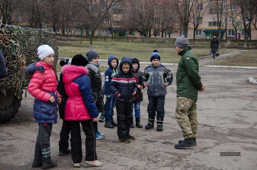 Военные на БТРе побывали в краматорской школе (ФОТО), фото-5
