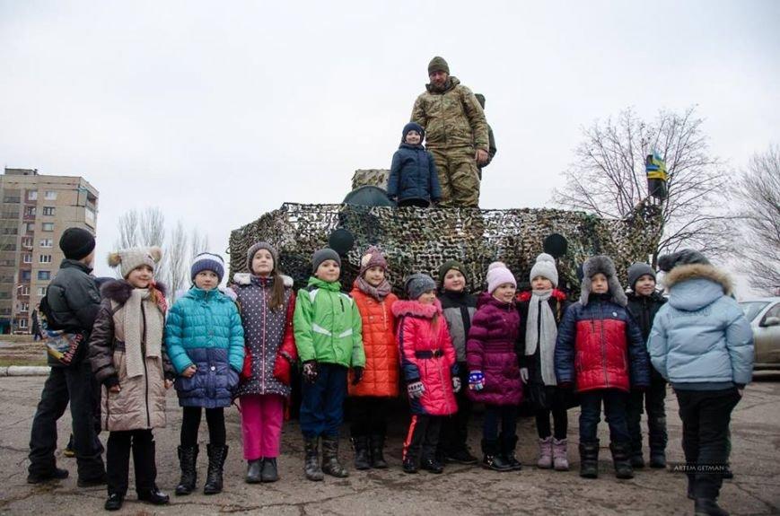 Военные на БТРе побывали в краматорской школе (ФОТО), фото-4