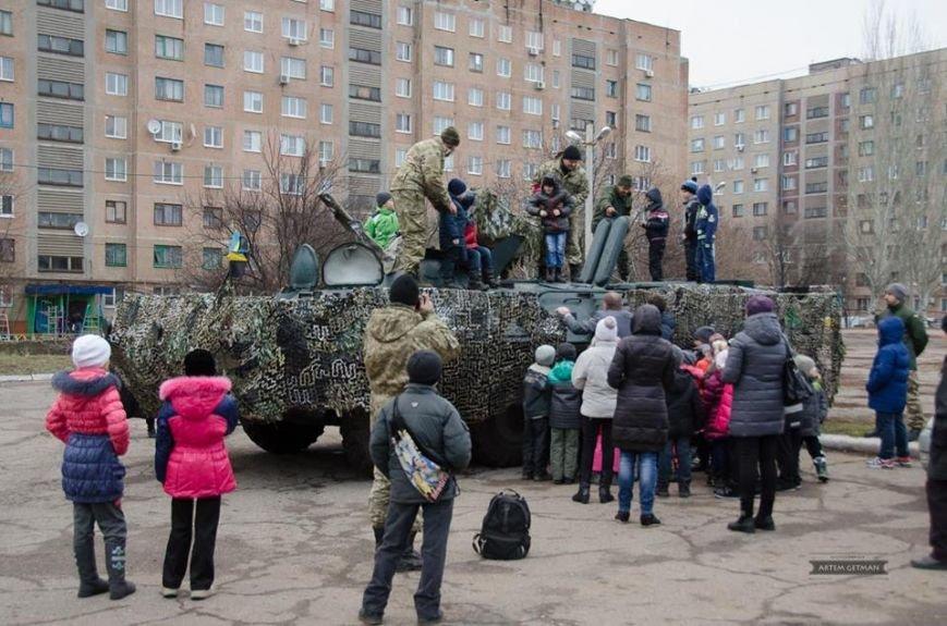 Военные на БТРе побывали в краматорской школе (ФОТО), фото-3