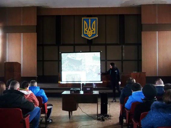 Школьники Димитрова узнали алгоритм поведения в чрезвычайных ситуациях (фото) - фото 2
