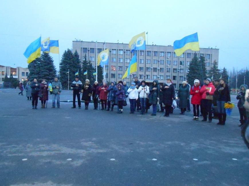 На віче привітали військових з їх професійним святом (фото) - фото 1