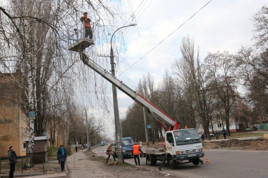 До конца недели в Чернигове закончат демонтаж опор для новой троллейбусной линии, фото-1