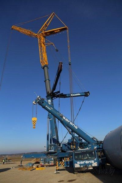 Под Новогрудком начали монтаж ветроэнергетического парка: его открытие запланировано на май 2016 года (фото) - фото 1