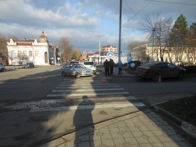 вид места ДТП по ходу движения пешехода