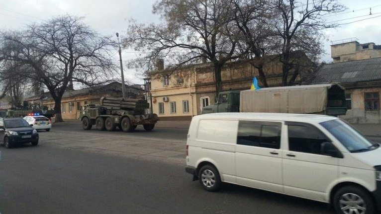 Впечатляет: В Одессу из фронта привезли