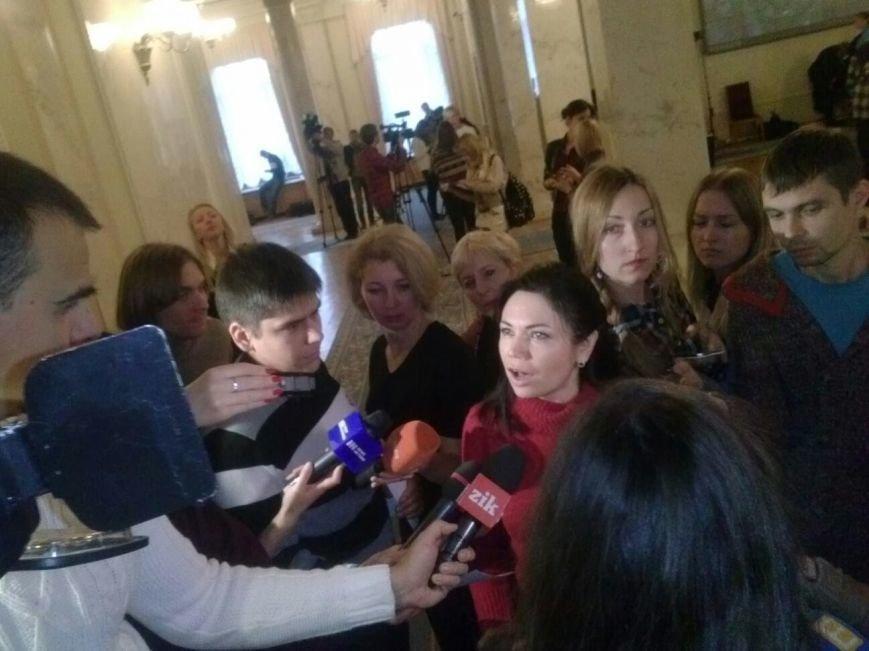 """Пятница в парламенте: В день отчета правительства """"Самопомощь"""" заблокировала трибуну, а криворожские активисты раздают депутатам приглашени..., фото-3"""