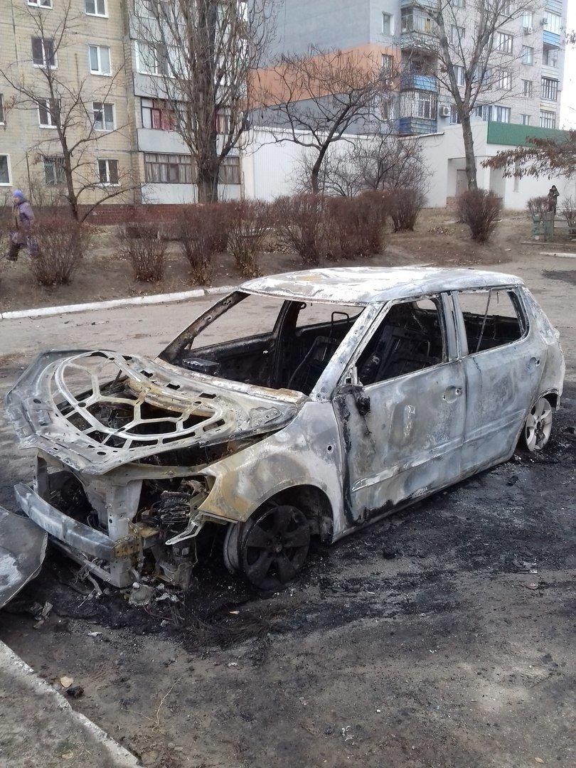 На левобережье Днепродзержинска сгорел автомобиль, фото-1