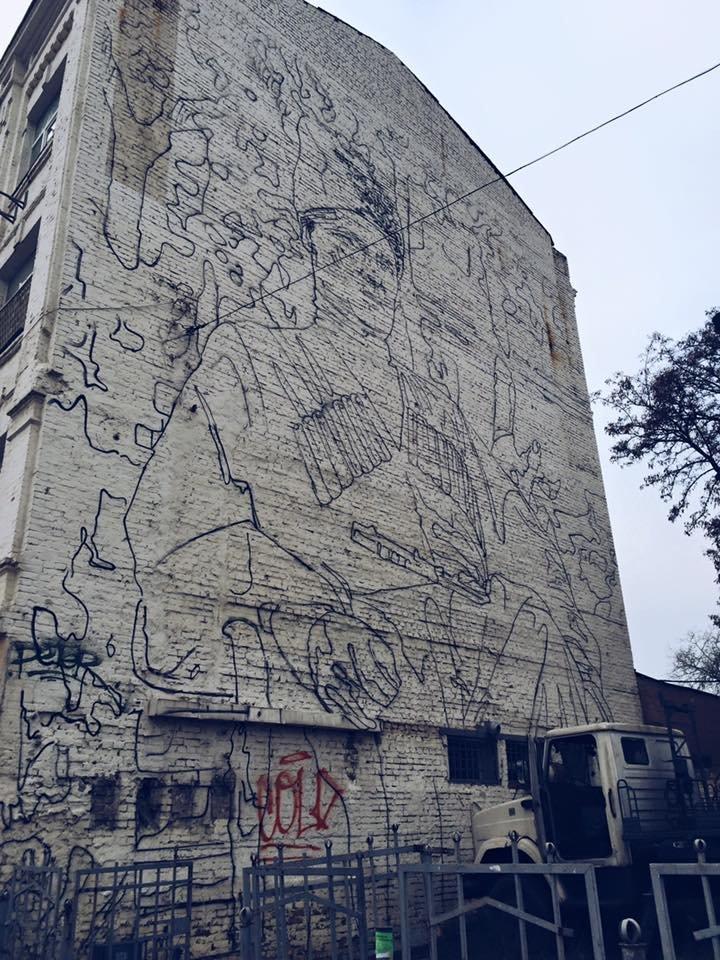 В Киеве художники завершили мурал со Скоропадским (ФОТОФАКТ) (фото) - фото 1