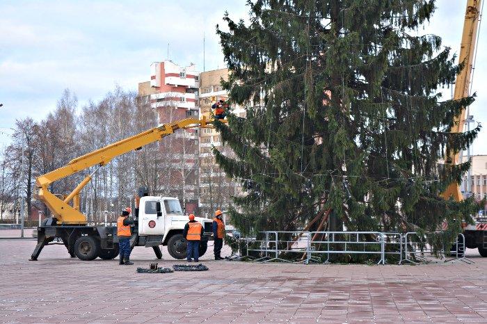 В Новополоцке украшают городскую елку, фото-2