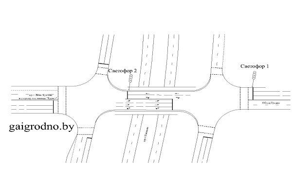 В Гродно на путепроводе проспектов Купалы и Клецкова изменят светофорное регулирование (фото) - фото 2