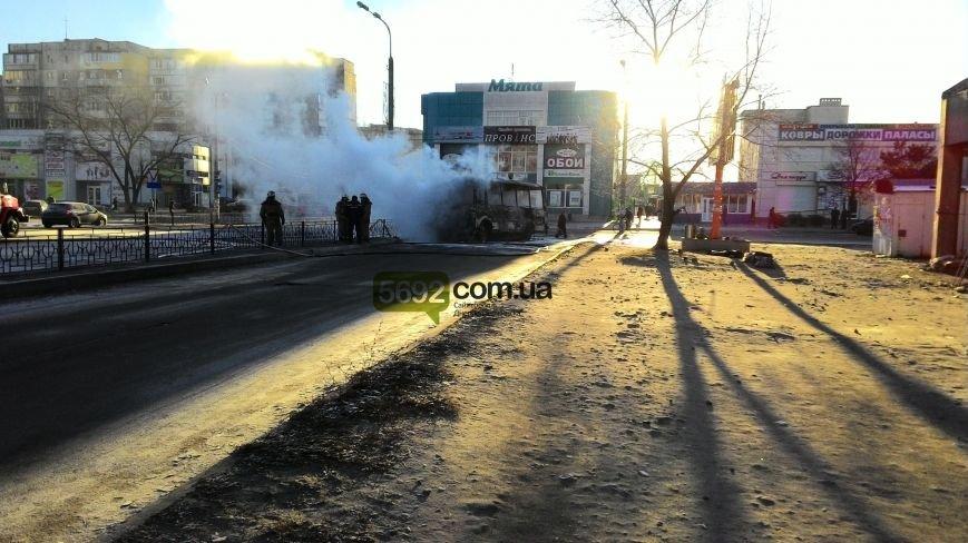На левобережье Днепродзержинска сгорел автобус (фото) - фото 1