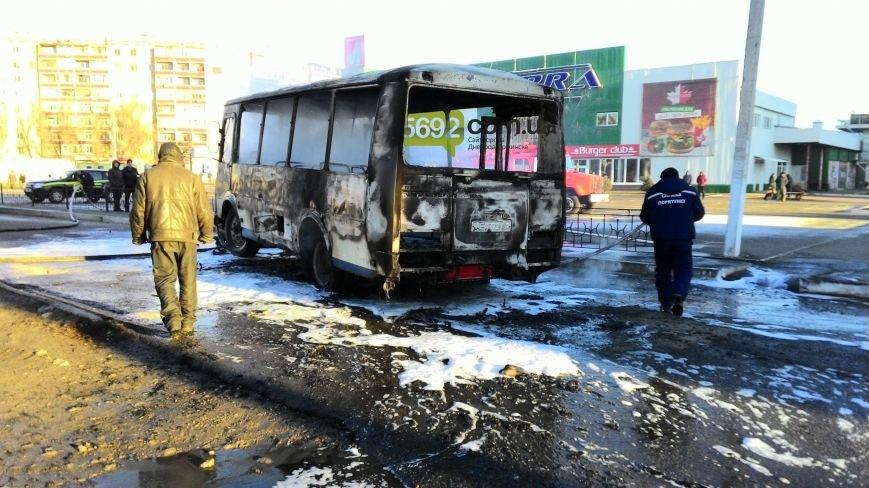 На левобережье Днепродзержинска сгорел автобус (фото) - фото 3