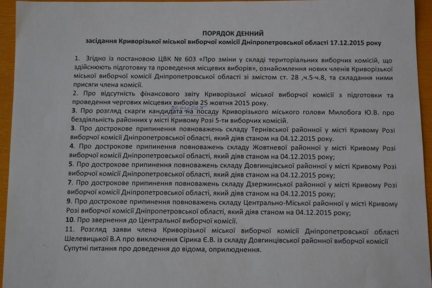 Новый председатель  горизбиркома Кривого Рога приняла присягу,  но отказалась рассматривать подготовленные проекты постановлений, фото-1