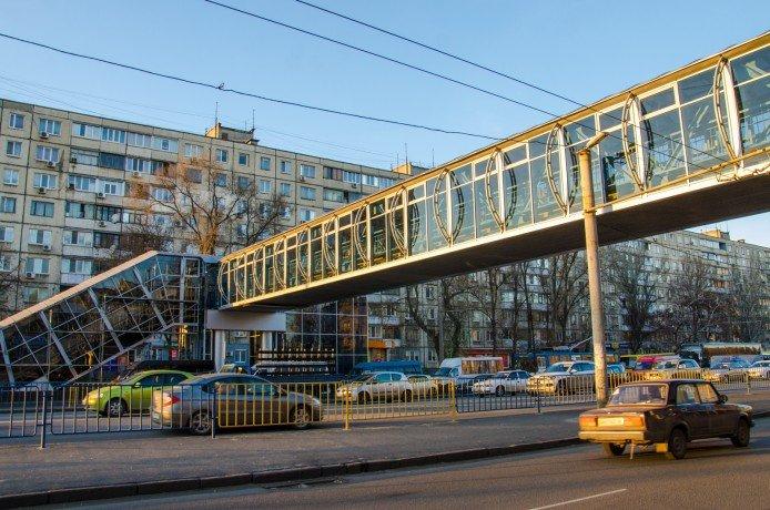 Пешеходный переход на Слобожанском проспекте начал работу (ФОТО), фото-3