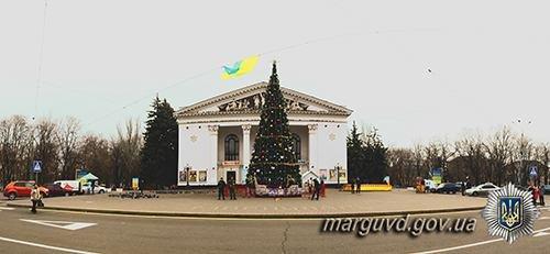 Полицейские взяли под охрану новогодние елки во всех районах Мариуполя (ФОТО), фото-4