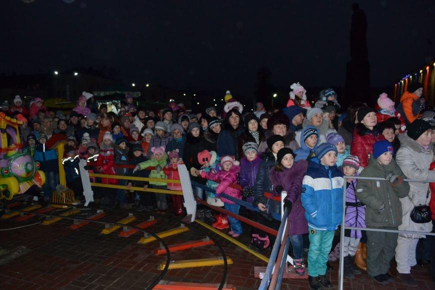 В Днепродзержинске открыли центральную новогоднюю ёлку, фото-5