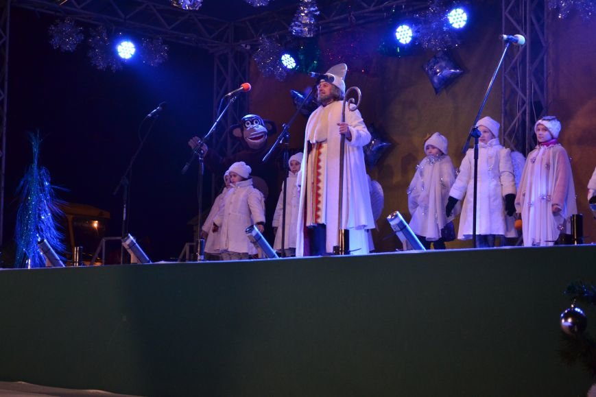В Днепродзержинске открыли центральную новогоднюю ёлку, фото-20