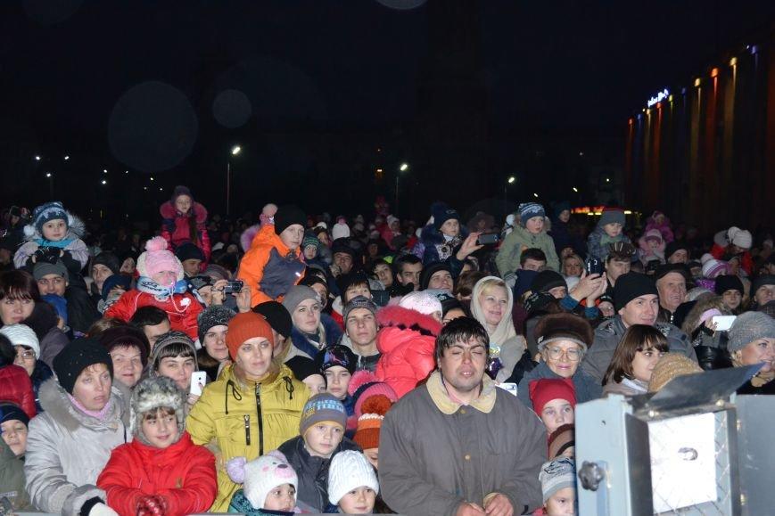 В Днепродзержинске открыли центральную новогоднюю ёлку, фото-9