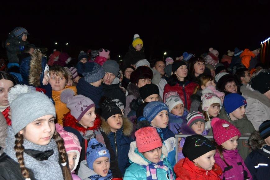 В Днепродзержинске открыли центральную новогоднюю ёлку, фото-23