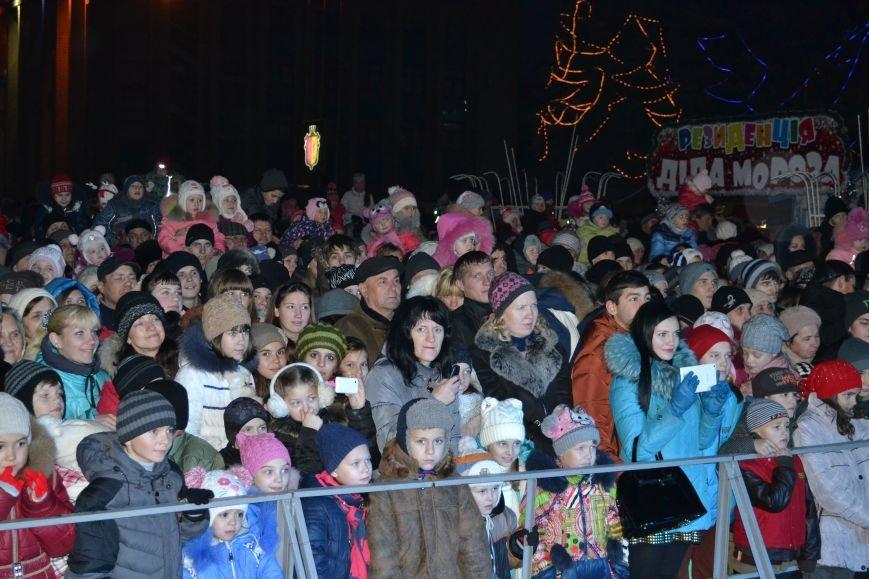 В Днепродзержинске открыли центральную новогоднюю ёлку, фото-8