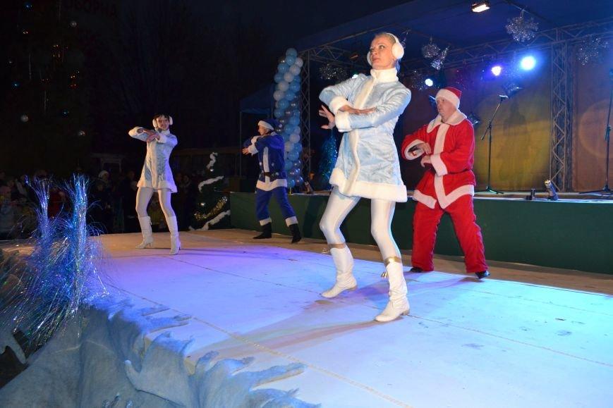 В Днепродзержинске открыли центральную новогоднюю ёлку, фото-3
