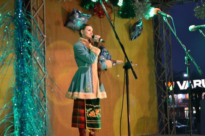 В Днепродзержинске открыли центральную новогоднюю ёлку, фото-2
