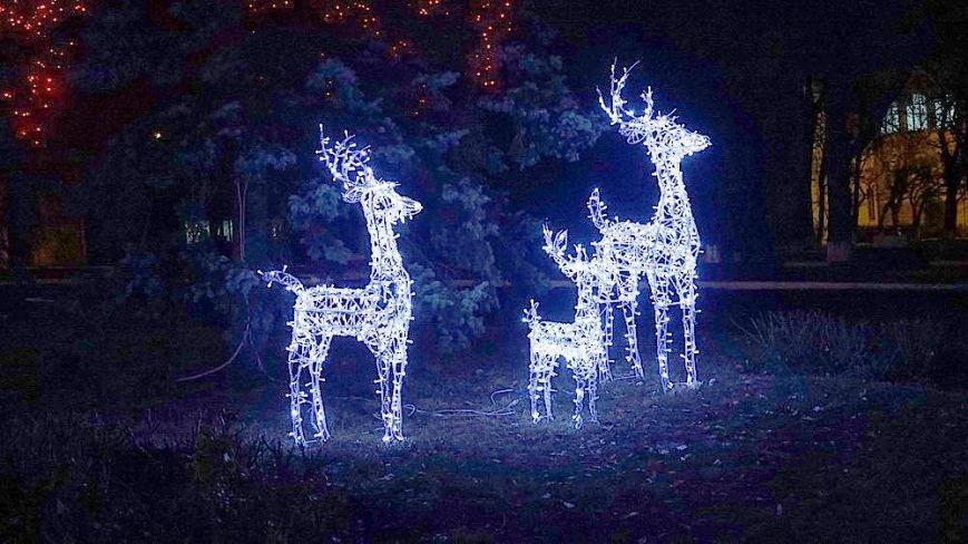 В Мариуполе комбинат им. Ильича сияет новогодней иллюминацией (ФОТО), фото-13
