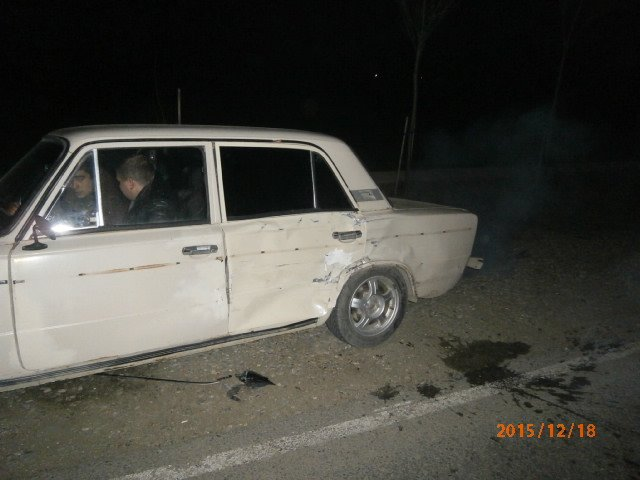 Место наибольшего повреждения авто. ВАЗ-21061.
