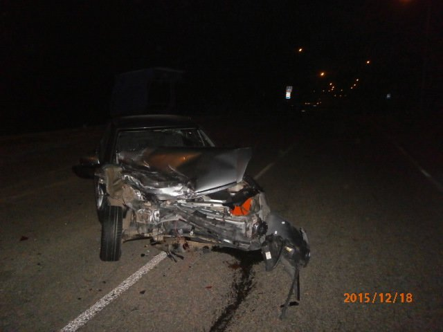 Место наибольшего повреждения авто. ВАЗ-217030.