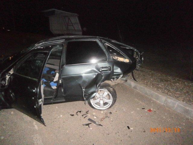 Место наибольшего повреждения авто. ВАЗ-217230.