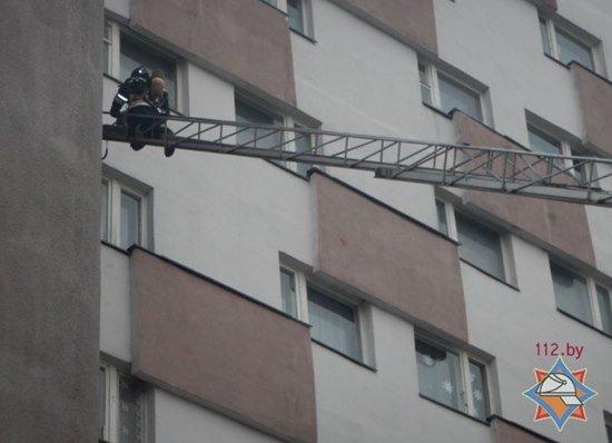 Пожар в новополоцком общежитии оказался учениями МЧС (фото) - фото 1