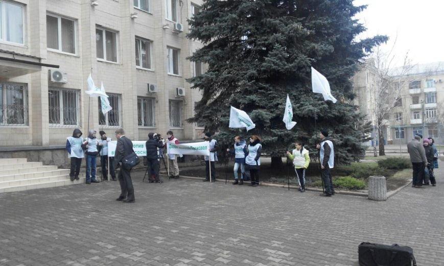 Под горсоветом Краматорска митингуют экологи (фото) - фото 5
