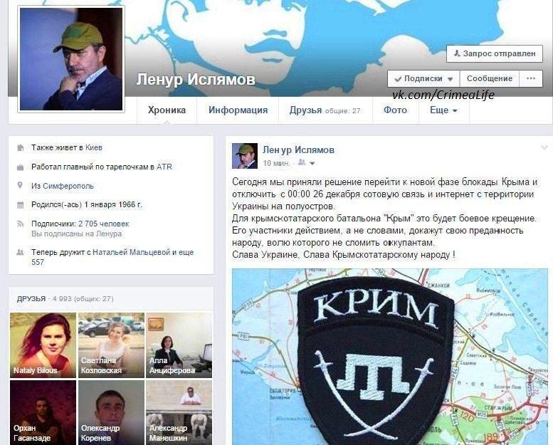 Организаторы блокады Крыма заявили об отключении связи и интернета на полуострове 26 декабря (фото) - фото 1