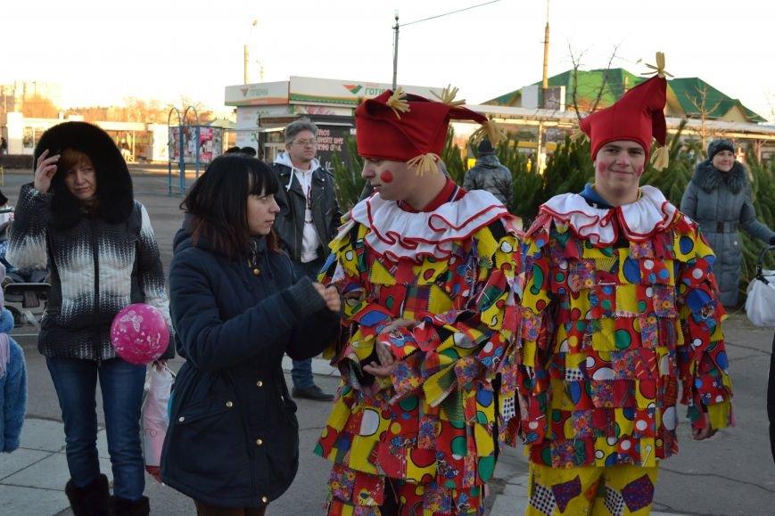 На левобережье Днепродзержинска открылась районная новогодняя елка, фото-7