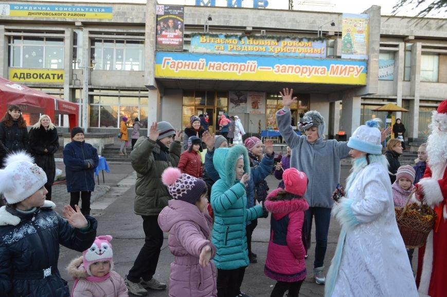На левобережье Днепродзержинска открылась районная новогодняя елка, фото-6