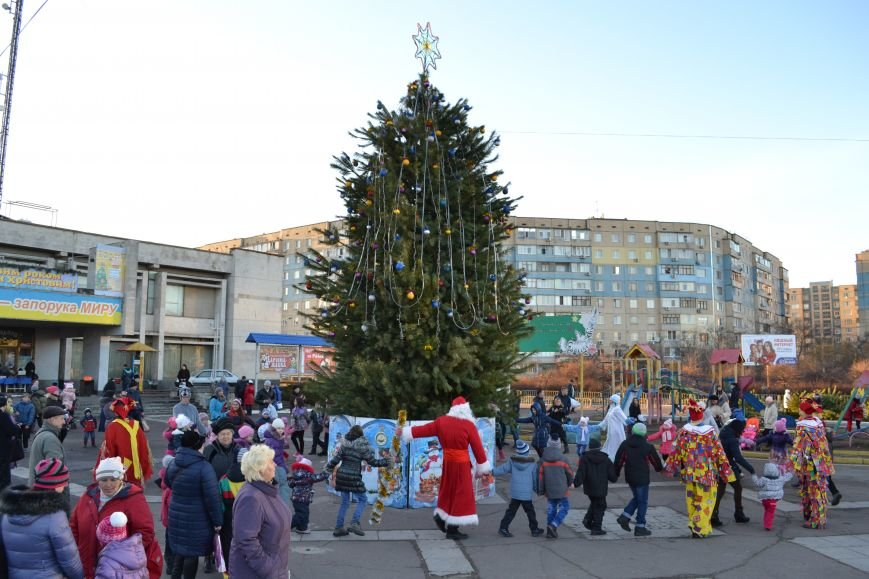 На левобережье Днепродзержинска открылась районная новогодняя елка, фото-2