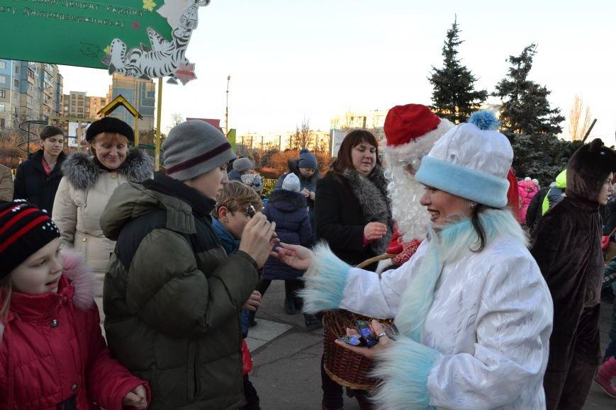 На левобережье Днепродзержинска открылась районная новогодняя елка, фото-4