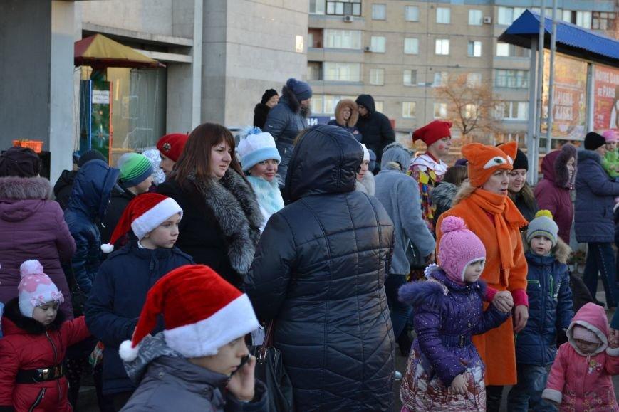 На левобережье Днепродзержинска открылась районная новогодняя елка, фото-1