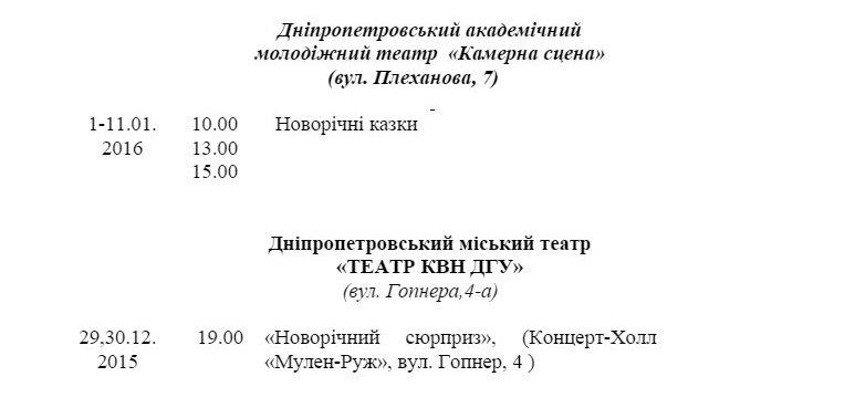 Программа новогодних мероприятий в Днепропетровске (фото) - фото 5