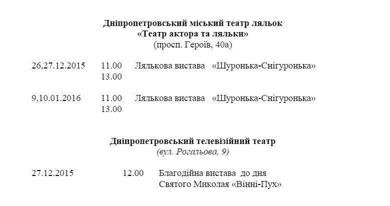 Программа новогодних мероприятий в Днепропетровске (фото) - фото 6
