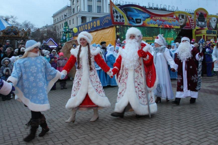 В Белгороде прошёл парад Дедов Морозов и Снегурочек, фото-9